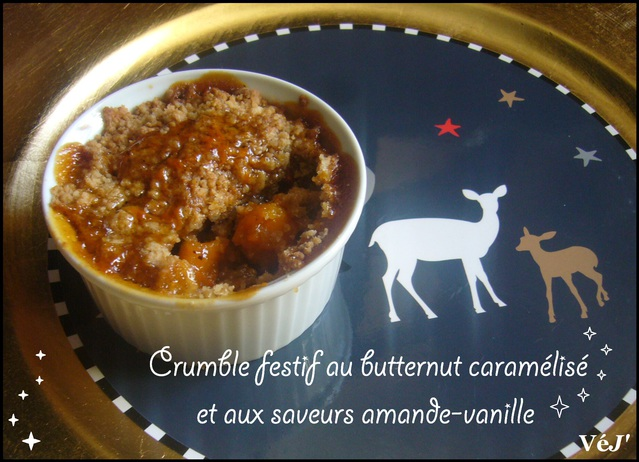 Crumble végan au butternut