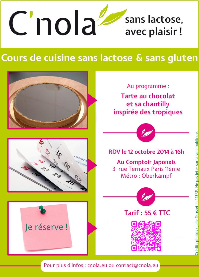 cours de cuisine sans gluten et sans lactose le 12 octobre 2014 au ... - Cours De Cuisine Japonaise Paris